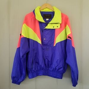 Vintage neon descente ski snow jacket size m